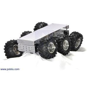 Pololu Dagu Wild Thumper 6WD オフロードカーシャーシ シルバー 75:1|suzakulab