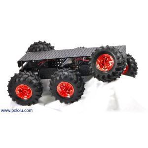 Pololu Dagu Wild Thumper 6WD オフロードカーシャーシ ブラック 75:1|suzakulab