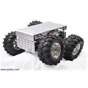 Pololu Dagu Wild Thumper 4WDオフロードカーシャーシ シルバー 34:1|suzakulab