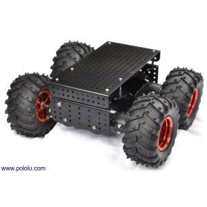 Pololu Dagu Wild Thumper 4WD オフロードカーシャーシ ブラック 34:1|suzakulab