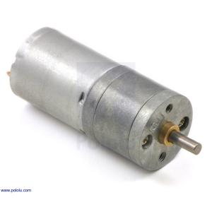 Pololu 4.4:1 金属ギヤードモータ 25Dx48L mm HP 6V|suzakulab