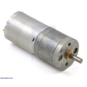Pololu 34:1 金属ギヤードモータ 25Dx52L mm HP 6V|suzakulab