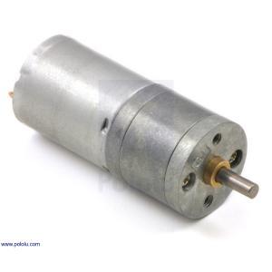 Pololu 9.7:1 金属ギヤードモータ 25Dx48L mm LP 6V|suzakulab