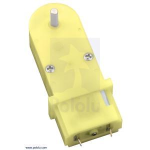 Pololu 180:1 ミニプラスチックギヤードモータ 90° 3mm D軸出力 在庫品|suzakulab