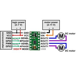 Pololu DRV8835 デュアルモータドライバボード|suzakulab|05