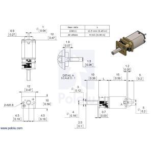 Pololu 250:1 金属マイクロギヤードモータ HP 6V 両軸仕様|suzakulab|05