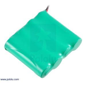 Pololu Ni-MH充電池 組電池 4.8V 2200mAh 4x1 単3セル JRコネクタ|suzakulab