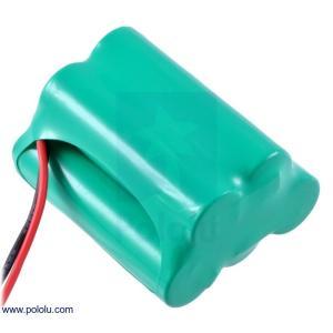 Pololu Ni-MH充電池 組電池 6.0V 2200mAh 3+2 単3セル JRコネクタ|suzakulab