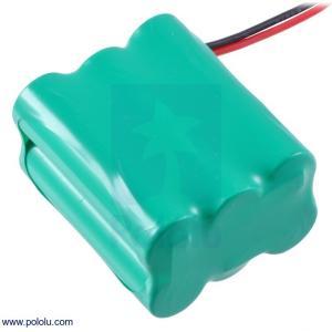Pololu Ni-MH充電池 組電池 7.2V 2200mAh 3x2 単3セル JRコネクタ|suzakulab