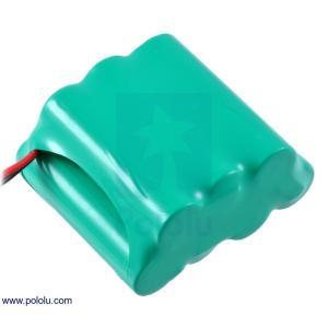 Pololu Ni-MH充電池 組電池 8.4V 2200mAh 4+3 単3セル JRコネクタ|suzakulab