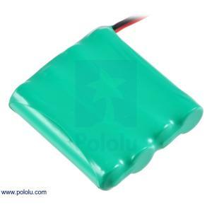 Pololu Ni-MH充電池 組電池 4.8V 900mAh 4x1 単4セル JRコネクタ|suzakulab