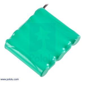 Pololu Ni-MH充電池 組電池 6.0V 900mAh 5x1 単4セル JRコネクタ|suzakulab
