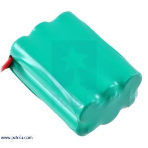 Pololu Ni-MH充電池 組電池 7.2V 900mAh 3x2 単4セル JRコネクタ|suzakulab