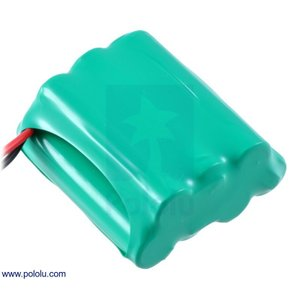 Pololu Ni-MH充電池 組電池 8.4V 900mAh 4+3 単4セル JRコネクタ|suzakulab