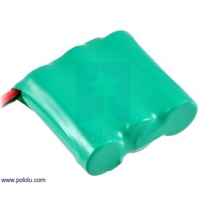 Pololu Ni-MH充電池 組電池 3.6V 350mAh 3x1 2/3単4セル JRコネクタ|suzakulab