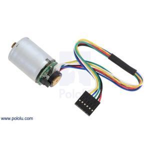 Pololu 直径25mm LP 6Vモータ 金属ギヤードモータ用 48CPRエンコーダ付き (ギヤボックス無し)|suzakulab