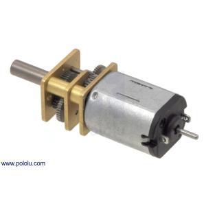 Pololu 298:1 金属マイクロギヤードモータ MP 6V 両軸仕様|suzakulab