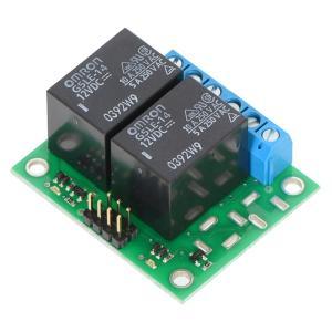 Pololu ベーシック 2チャンネル SPDT リレーボード 12VDC リレー付き(組立て済み)|suzakulab