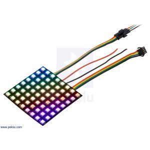 Pololu LEDフレキシブルパネル フルカラーRGB LED 8x8 個別アドレス 5V 10mmグリッド APA102C|suzakulab