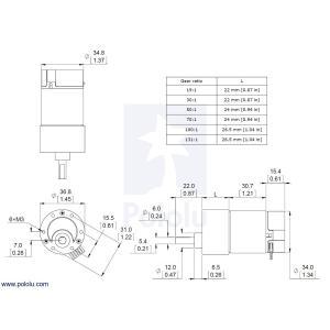 Pololu 19:1 金属ギヤードモータ 37Dx68L mm 64 CPRエンコーダ付き|suzakulab|03