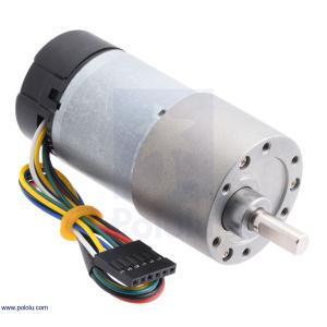 Pololu 150:1 12V金属ギヤードモータ 37Dx73L mm 64 CPRエンコーダ付き (ヘリカルピニオン版)|suzakulab
