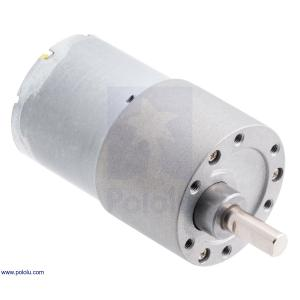 Pololu 150:1 12V金属ギヤードモータ 37Dx57L mm (ヘリカルピニオン版)|suzakulab