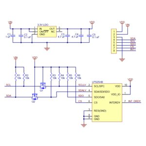 Pololu LPS25HB 気圧/標高センサボード (定電圧レギュレータ付き)|suzakulab|06