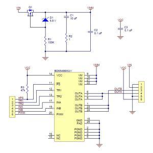 Pololu BD65496MUV シングルブラシDCモータドライバボード|suzakulab|06