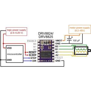 Pololu DRV8825 大電流ステッピングモータドライバボード (バルク品 ピンヘッダ無し)|suzakulab|05