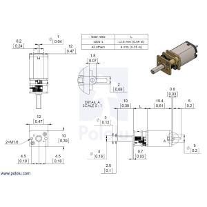 Pololu 100:1 金属マイクロギヤードモータ HPCB 12V 両軸仕様|suzakulab|05