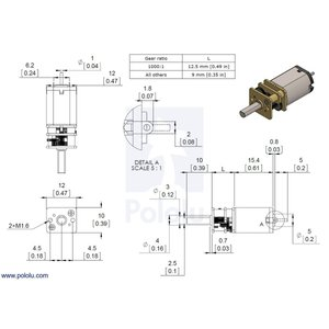Pololu 1000:1 金属マイクロギヤードモータ HPCB 12V 両軸仕様 suzakulab 05