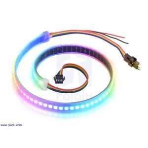 テープLED フルカラーLED72個(高密度) 個別アドレス 5V 0.5m (SK9822)|suzakulab