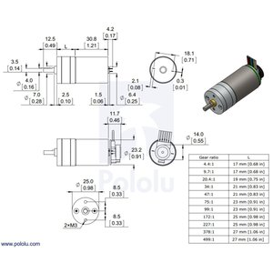 Pololu 75:1 金属ギヤードモータ 25Dx54L mm MP 12V 48CPRエンコーダ付き|suzakulab|03