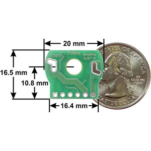 Pololu 直径20mm 金属ギヤードモータ用磁気エンコーダキット 2個入り 20 CPR 2.7-18V suzakulab 02