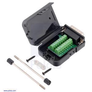 MCP23X/26Xアドバンスモーターコントローラ用 DB15 ネジ端子台アダプター|suzakulab