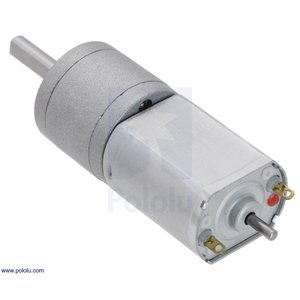 Pololu 78:1 金属ギヤードモータ 20Dx43L mm 6V CB 両軸仕様|suzakulab