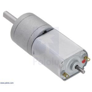 Pololu 156:1 金属ギヤードモータ 20Dx44L mm 6V CB 両軸仕様|suzakulab