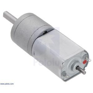 Pololu 195:1 金属ギヤードモータ 20Dx44L mm 6V CB 両軸仕様|suzakulab|08