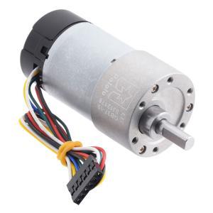 Pololu 19:1 12V金属ギヤードモータ 37Dx68L mm 64 CPRエンコーダ付き (ヘリカルピニオン版)|suzakulab