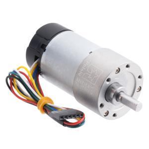 Pololu 30:1 12V金属ギヤードモータ 37Dx68L mm 64 CPRエンコーダ付き (ヘリカルピニオン版)|suzakulab