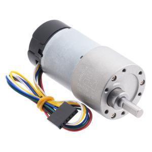 Pololu 100:1 12V金属ギヤードモータ 37Dx73L mm 64 CPRエンコーダ付き (ヘリカルピニオン版)|suzakulab