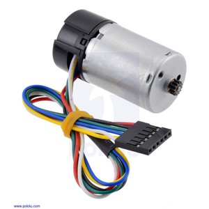Pololu 直径25mm LP モータ 6V 金属ギヤードモータ用 48CPRエンコーダ付き (ギヤボックス無し)|suzakulab