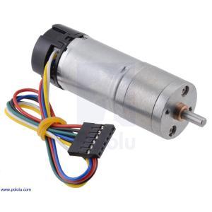 Pololu 99:1 金属ギヤードモータ 25Dx69L mm HP 12V 48CPRエンコーダ付き|suzakulab
