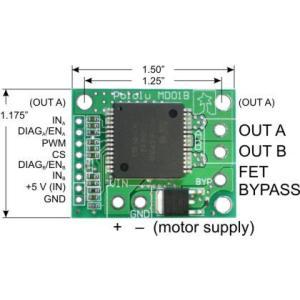 Pololu VNH3SP30モータドライバ MD01Bボード|suzakulab|02