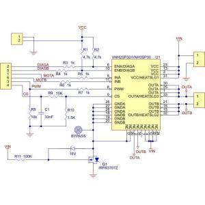 Pololu VNH3SP30モータドライバ MD01Bボード|suzakulab|03