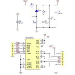 Pololu TB6612FNGデュアルモータドライバ|suzakulab|06