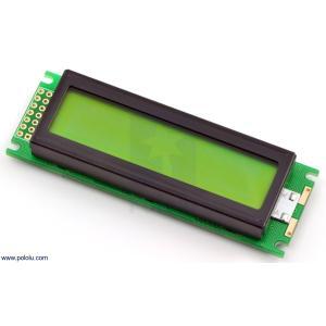 Pololu LCDキャラクタディスプレイ 16x2行 (パラレル通信) LEDバックライト 緑色 黒字|suzakulab
