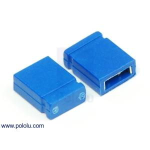 Pololu 0.1インチ (2.54 mm) ジャンパーピン 青
