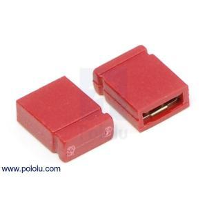 Pololu 0.1インチ (2.54 mm) ジャンパーピン 赤
