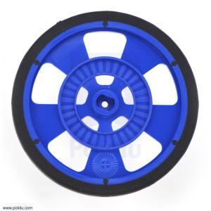 Solarbotics GMPW-LB 青 エンコーダ縞付ホイール シリコンタイヤ|suzakulab
